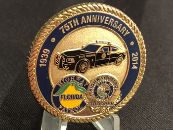 FLORIDA HIGHWAY PATROL 75TH SERGEANT CHALLENGE COIN RARE