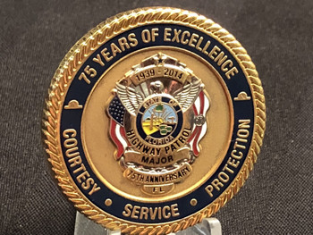 FLORIDA HIGHWAY PATROL 75TH MAJOR CHALLENGE COIN RARE