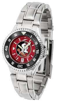 Florida State Seminoles – Competitor Ladies' Steel AnoChrome – Color Bezel