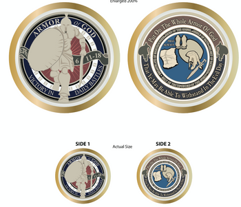 Express Your Faith And Support*** Exquisite Armor of God Challenge Coin is a perfect way to represent your Christian faith or show support for those in the armed forces.