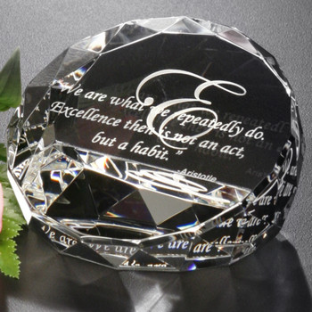 The slight slant and charming facets of the Cascade Award will make any desk or mantel sparkle. Reward your top employees with this exclusive design.
