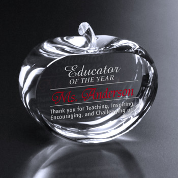 This wide oval apple is the perfect gift to show appreciation for their hours of dedication and hard work.