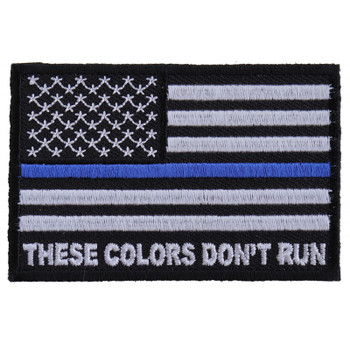 These Colors Don't Run Blue Line US Flag Patch