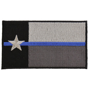 Thin Blue Line Texas State Flag Patch For Law Enforcement
