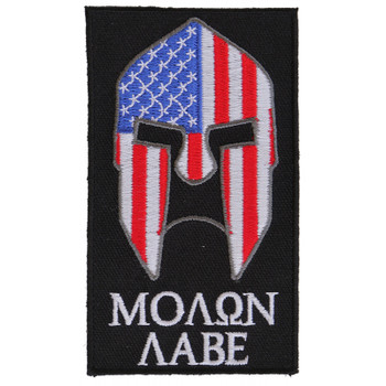 Molon Labe Spartan Patch With US Flag