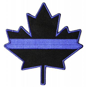 Thin Blue Line Canadian Maple Leaf Patch