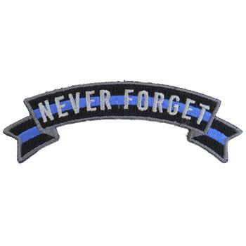 n Blue Line Never Forget Rocker Patch