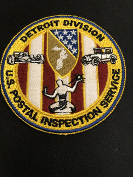 US POSTAL INSPECTION SERVICE DETROIT DIV. PATCH RARE