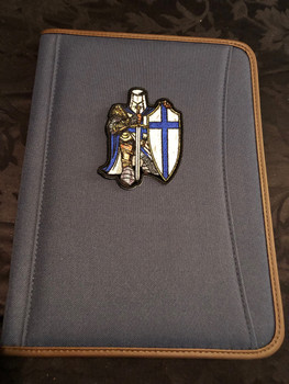 Blue Crusader Knight Small Patch PADFOLIO BLUE