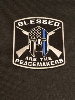 BLESSED ARE THE PEACEMAKERS Patch PADFOLIO BLACK