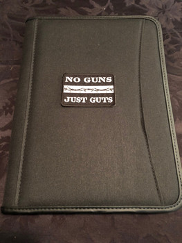 NO GUNS JUST GUTS Patch PADFOLIO BLACK