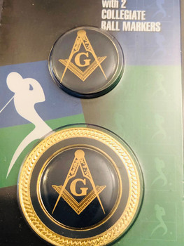 MASONIC BALL MARKER COIN