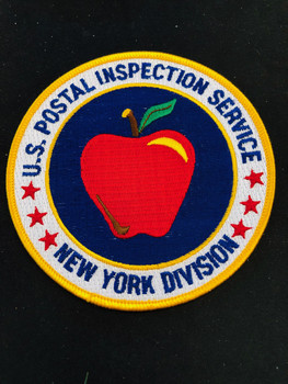 POSTAL NEW YORK DIV PATCH BIG APPLE