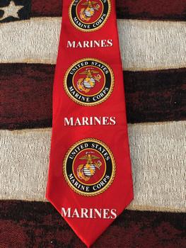 U.S. Marine Corps Globe, Anchor + eagle quality Men's necktie