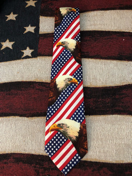 EAGLE & USA FLAG TIE