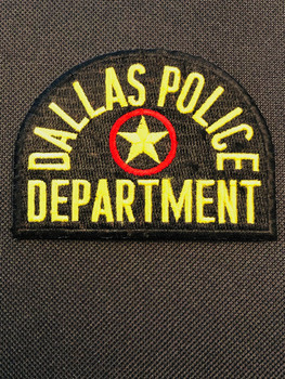 DALLAS TX POLICE Patch PADFOLIO