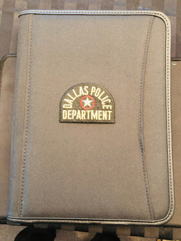 DALLAS TX POLICE Patch PADFOLIO BLACK
