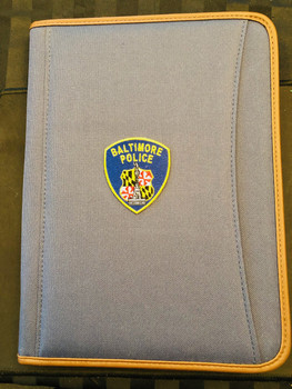 BALTIMORE POLICE Patch PADFOLIO BLUE