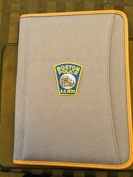 BOSTON POLICE PADFOLIO BLUE