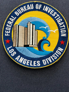 FBI LOS ANGELES PADFOLIO PATCH
