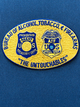 ATF UNTOUCHABLES PADFOLIO PATCH ON BLUE
