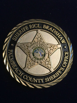 PALM BEACH SHERIFF BRADSHAW COIN RARE