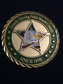 PALM BEACH SHERIFF BRADSHAW COIN RARE