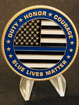 BLUE LIVES MATTER COIN MADE IN USA!