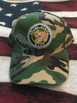 NAVY SEAL on CAMO hat