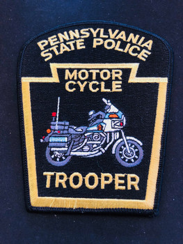 PA STATE POLICE MOTOR CYCLE  TROOPER PATCH