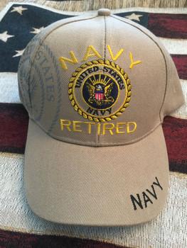 NAVY RETIRED SEAL TAN HAT