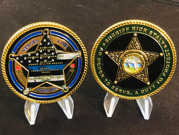 FLAGLER CTY FL SHERIFF HEROES LIVE FOREVER COIN