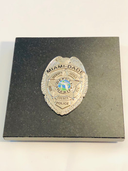MIAMI DADE POLICE SILVER PAPERWEIGHT