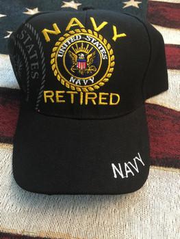 NAVY RETIRED SEAL BLACK HAT