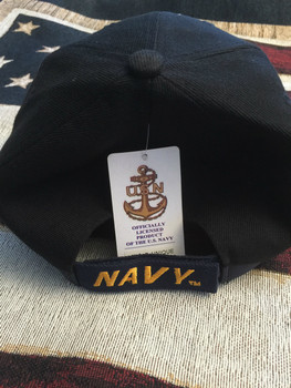 NAVY EAGLE BOLD EMBROIDERY DARK HAT