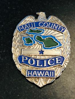 MAUI CTY POLICE SILVER RARE LAST ONE