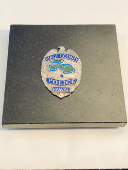 MAUI CTY POLICE SILVER RARE LAST ONE   FROM OLD COLLECTION