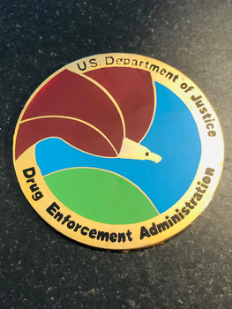 DEA SEAL PAPERWEIGHT RARE LAST ONE