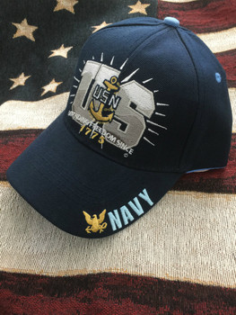 NAVY ANCHOR, GOLD EAGLE AND DEFENDING HAT