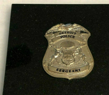 DETROIT POLICE SERGEANT PAPERWEIGHT RARE LAST ONE