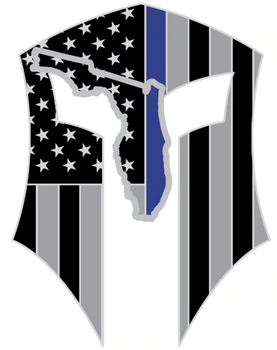 Florida Warrior Sticker Silver