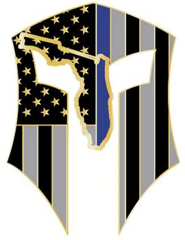Florida Warrior Sticker Gold