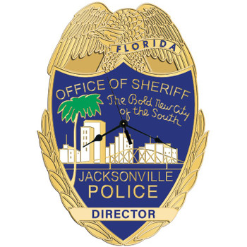 JSO POLICE CUSTOM SHAPE CLOCK