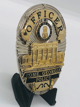 ROME POLICE GEORGIA OFFICER BADGE