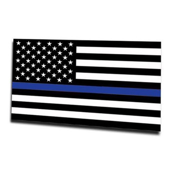MAGNET - THIN BLUE LINE AMERICAN FLAG