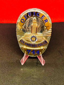 LAPD OFFICER 744  BADGE