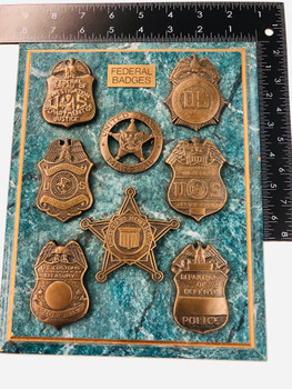 AWESOME 8 FEDERAL BADGE REPLICAS MOUTED