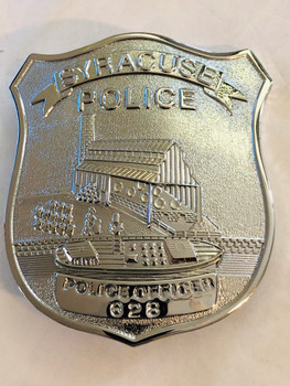 SYRACUSE NEW YORK POLICE 150TH ANNIV BADGE 1998