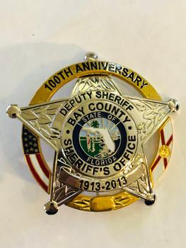 BAY CTY SHERIFF FL 100TH ANNIVERSARY STAR BADGE 2013