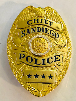 SAN DIEGO POLICE CHIEF REPLICA BADGE